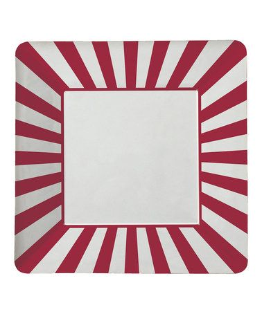 Another great find on #zulily! Red Stripe Paper Plate - Set of 24 by Party Partners #zulilyfinds