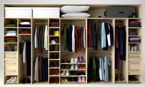 Am Desperate To Have A Wardrobe Like This Behind Some Slatted Wooden Doors Might