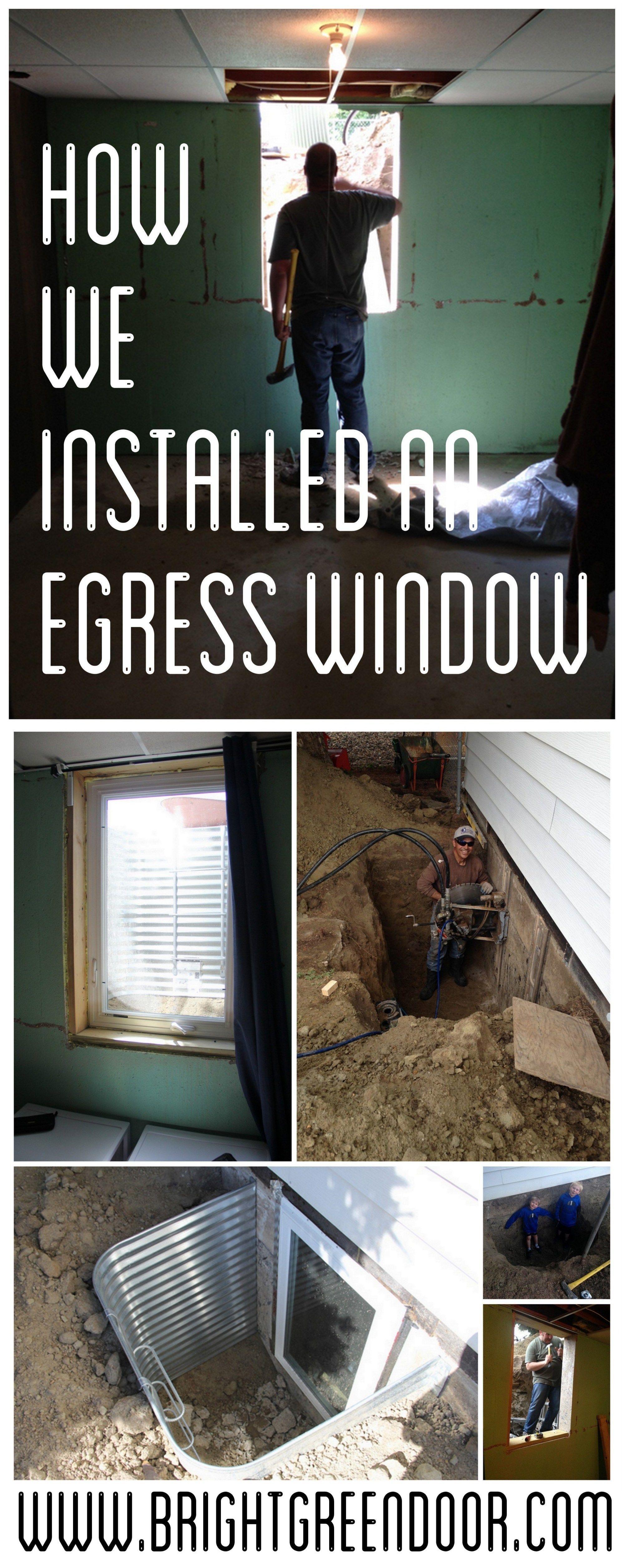 Egress window decor  how we installed an egress window  basement man cave  pinterest
