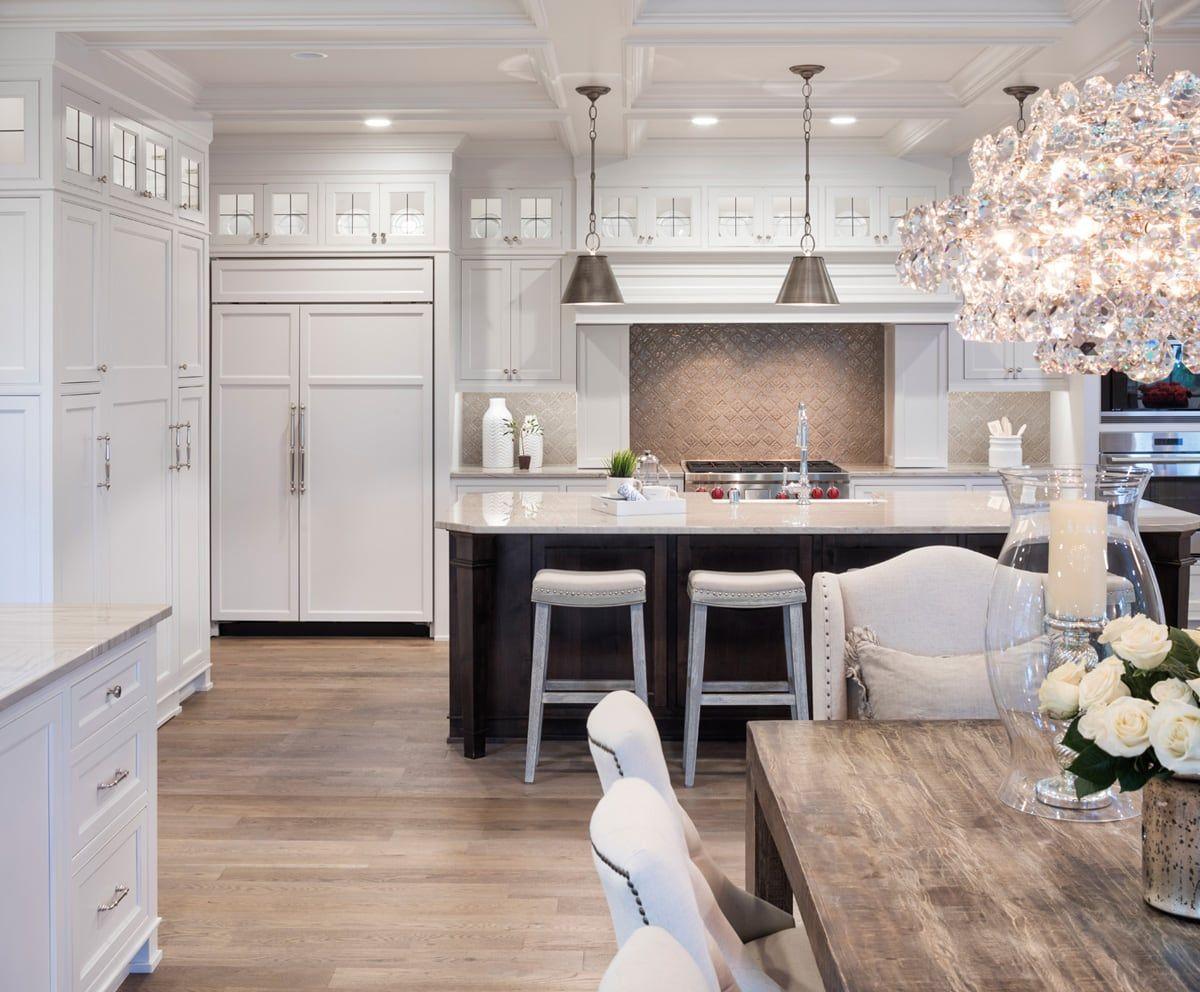 modern farmhouse kitchen in black and white modernfarmhouse interiordesign shadeso stools on farmhouse kitchen black and white id=24385