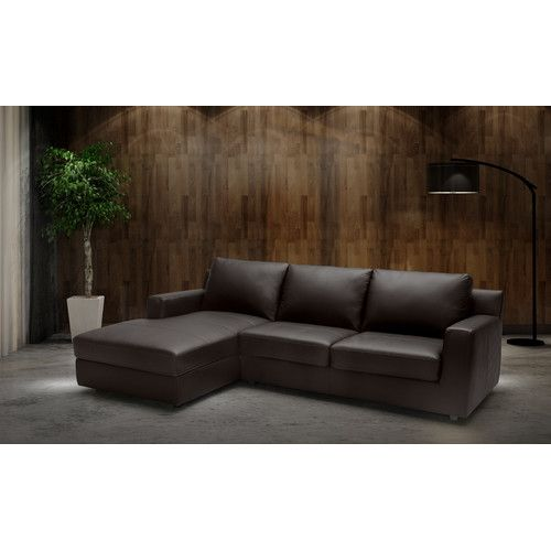 Blandon Leather Sleeper Sectional Leather Sectional Sofas