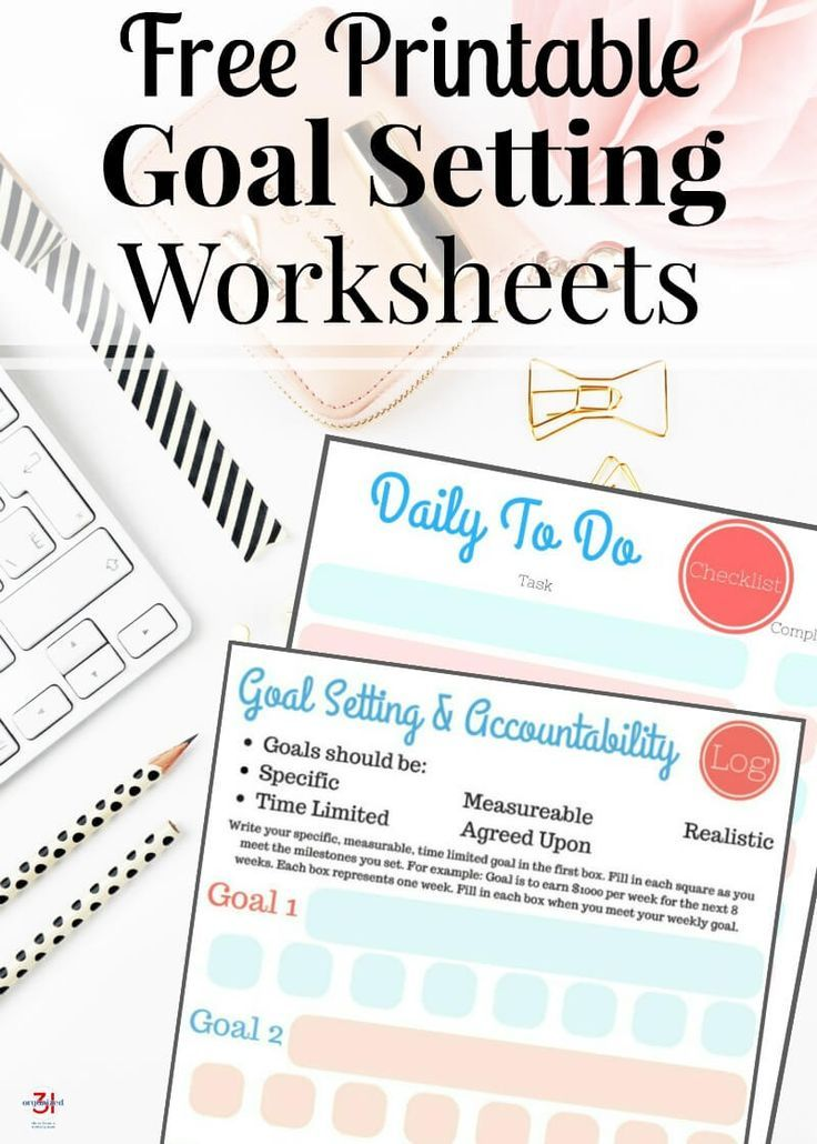 Free Printable Goal Setting Worksheets  Goal Setting Worksheet