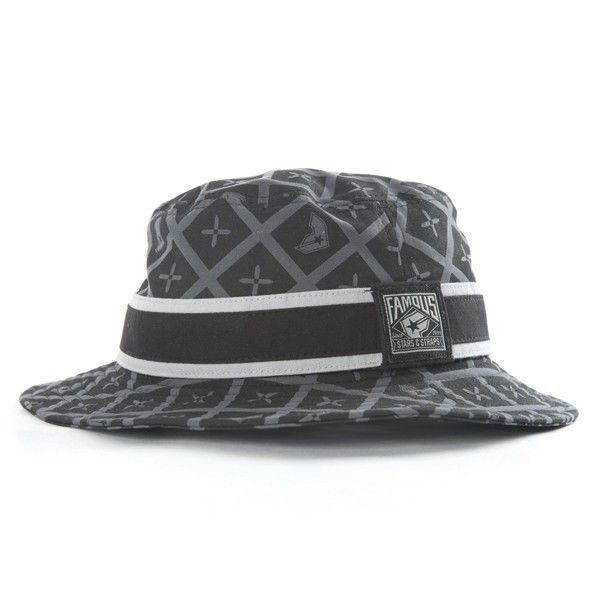 e70ba311be0 Famous Stars   Straps SAINTS BUCKET HAT Black Grey Printed with Mesh Liner  L XL  buckethat  famoussas