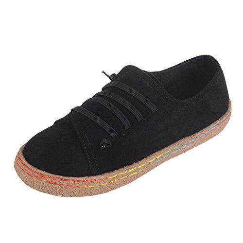 0cab56af484e3 Amlaiworld Femmes Chaussures Plates Molles Chaussures en Cuir de  DaimFfemelle Bottes à Lacets Sandales Femmes (