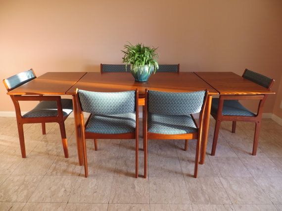 Fabulous Mid Century Modern Danish Teak Dining Set By Soulfulvintage Bralicious Painted Fabric Chair Ideas Braliciousco