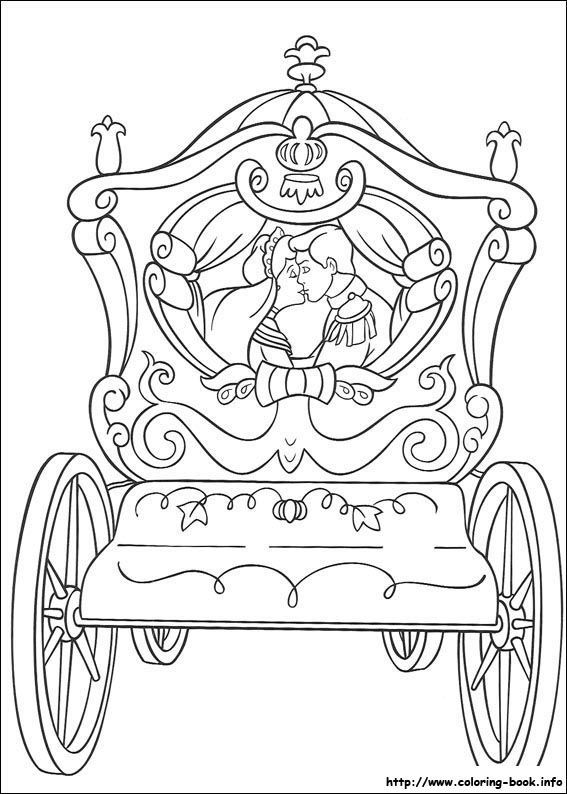 prince cinderella kiss coloring page - Free Wedding Coloring Pages