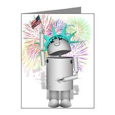 Lady Liberty Robo-x9 Celebrates Independence Shirts, Mugs, & more at #Cafepress #Gravityx9 -
