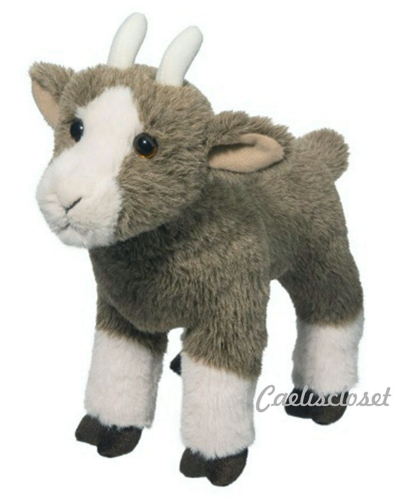 Douglas Duncan Goat 10 Plush Stuffed Farm Animal Soft Cuddle Toy