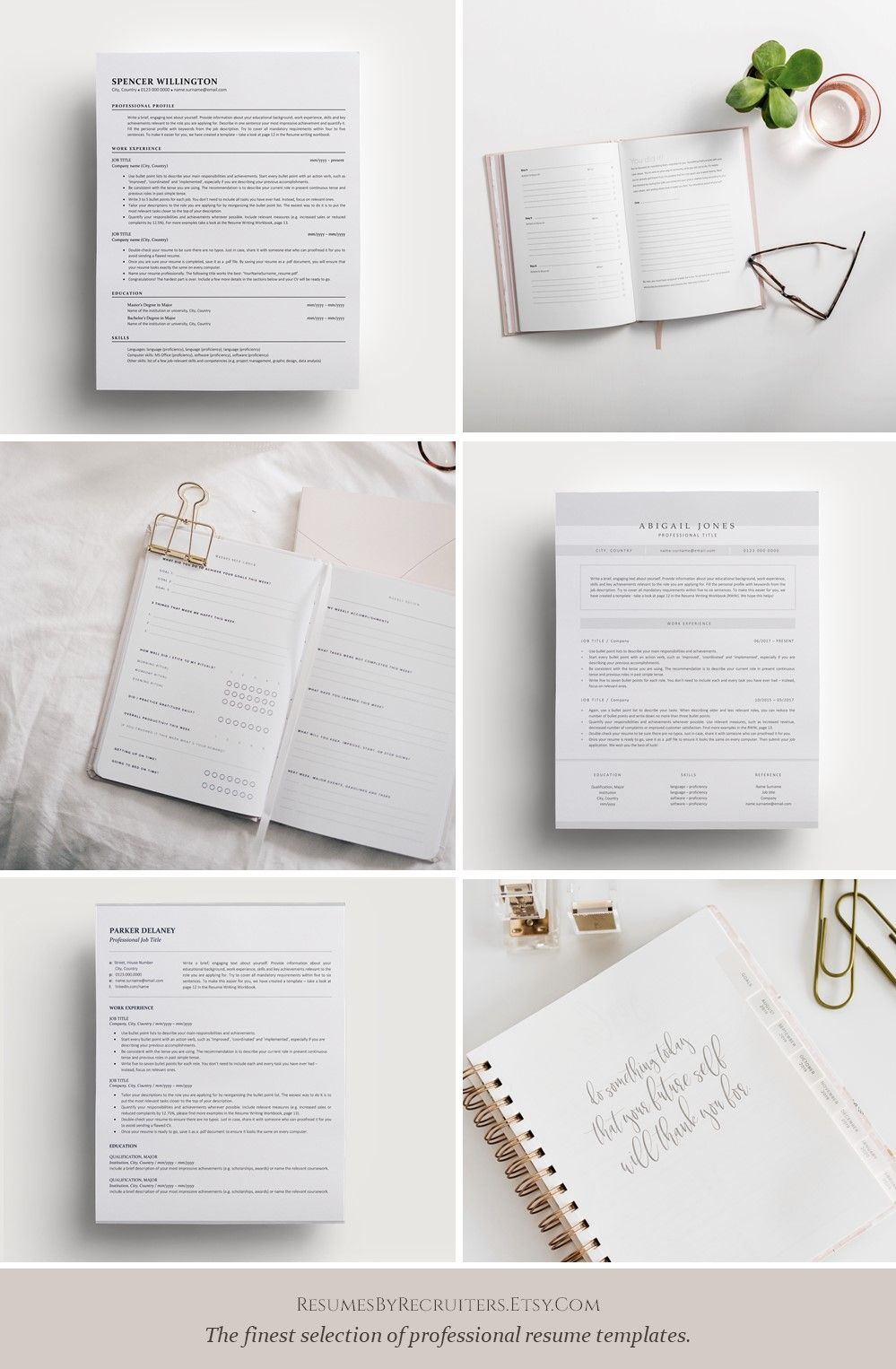 Instant Download, Modern and Professional CV and Cover