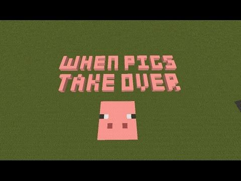 Minecraft When Pigs take Over Custom Map Amazing