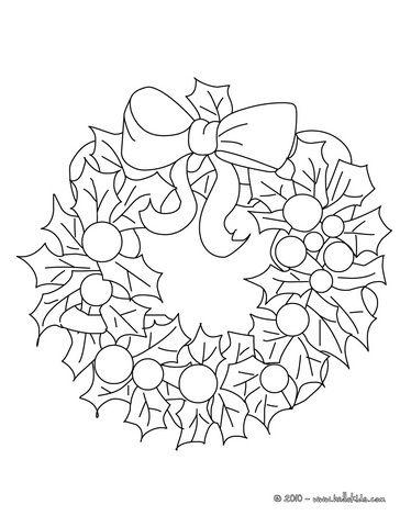 Christmas wreath coloring page | Bricos Noel | Pinterest | Navidad ...