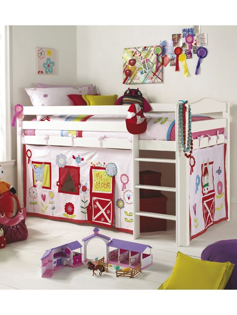 ribbons and rosettes stable playhouse under low loftbed