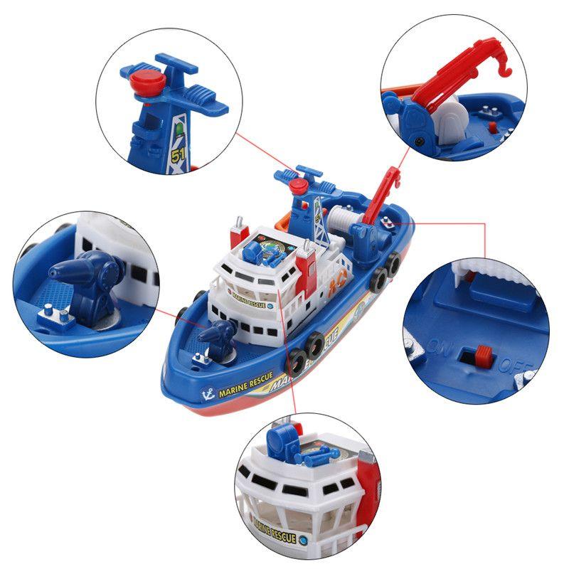 Feu électrique Bateau Modèle Porte-avions Navire de Guerre Électrique Jouet Bateau Offshore Cuirassé Toys Cadeau pour Enfants Peut Naviguer dans L'eau
