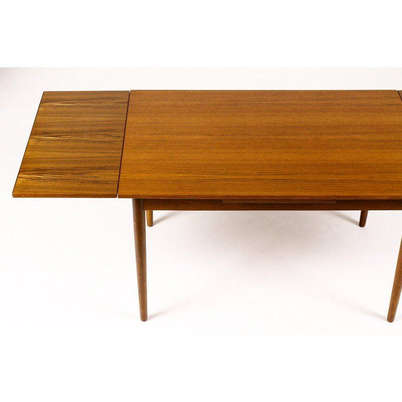 1960s Danish Modern Am Mobler Teak Dining Table Dining Table Teak Dining Table Dining Room Small