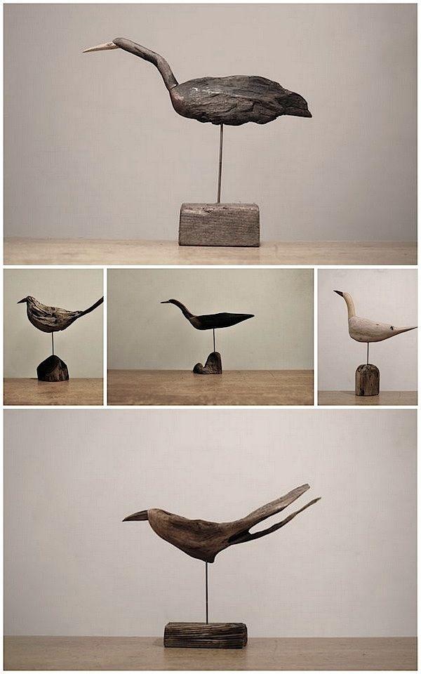 Flotte fugle - af drivtømmer