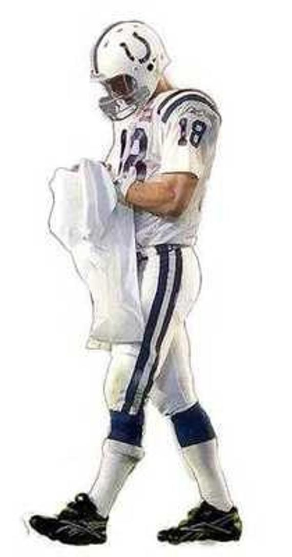 Rare Super Bowl Peyton Manning Indianapolis Colts Art