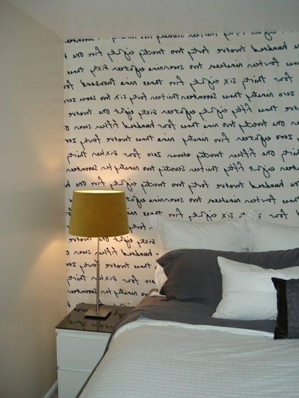 Origibelle Wände Streichen Ideen   Aufschrift Im Schlafzimmer   62 Kreative  Wände Streichen Ideen U2013 Interessante