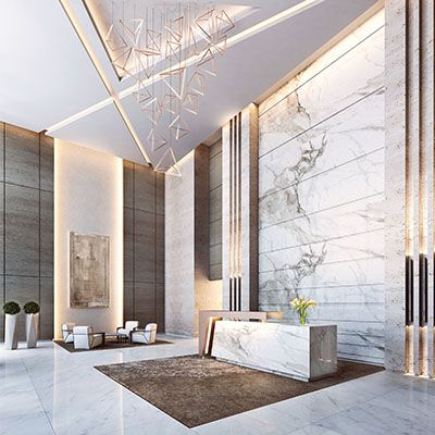 Zabeel residential tower rsp architects planners for Villa lobby interior design