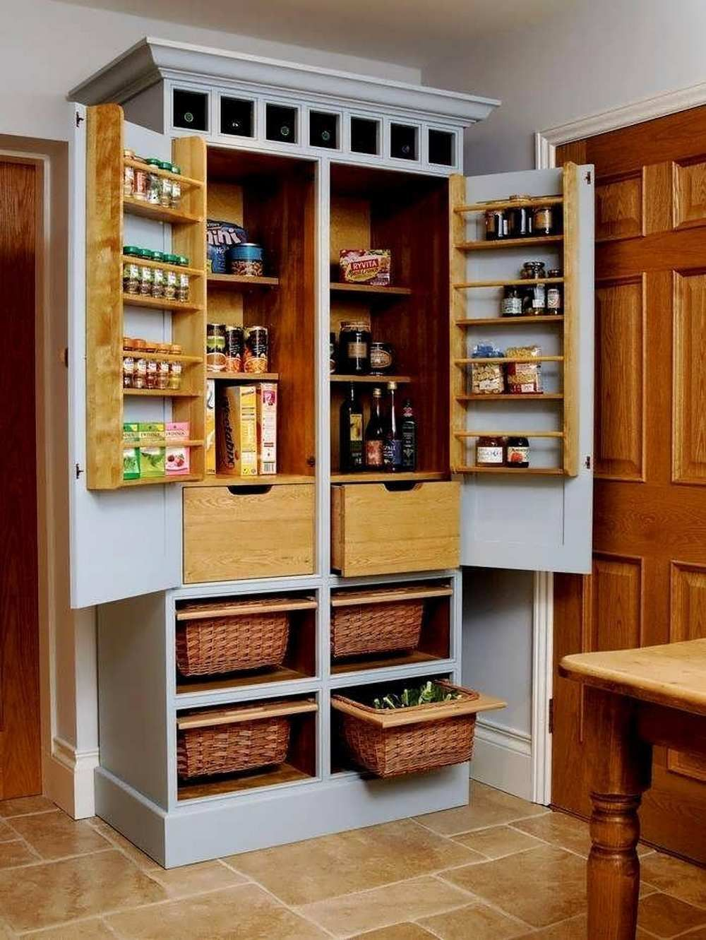 Built In Pantry Cabinet 12 Inch Deep Pantry Design Pantry Cabinet Free Standing Space Saving Kitchen