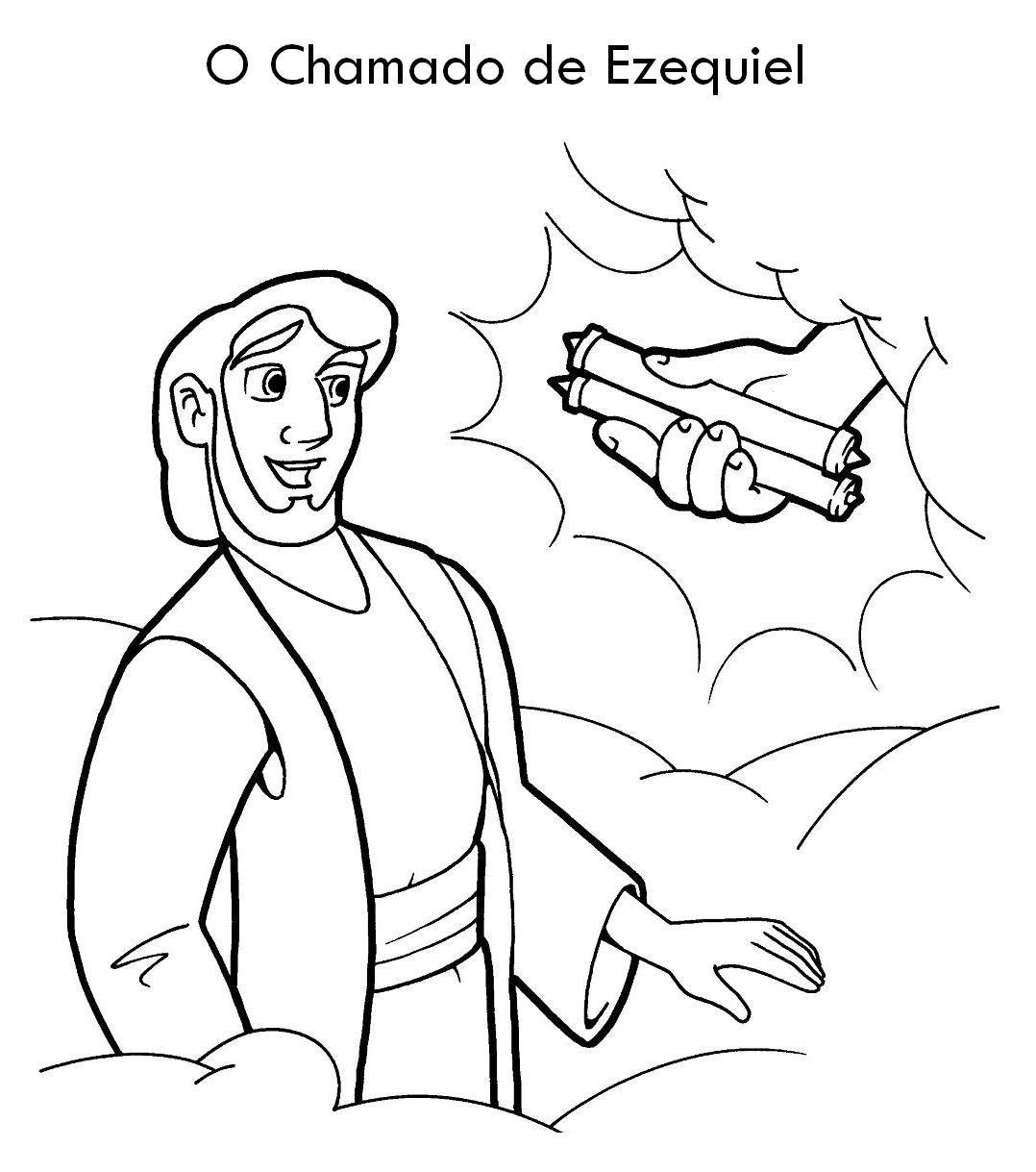 O Profeta Ezequiel - Desenhos e Atividades ~ ÁGUA VIVA KIDS | ensino ...