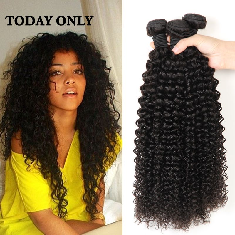 3 Bundles Malaysian Kinky Curly Hair Virgin Remy Curly Hair Natural Curly Weaves Kinky Curly  Hair Extensions HJ Weave Beauty