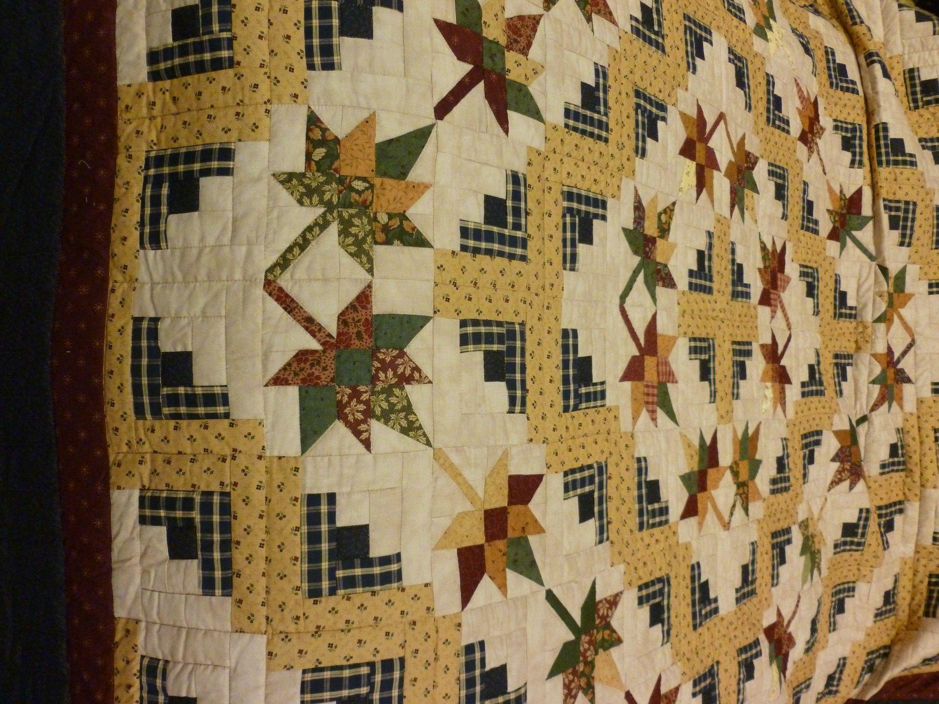 Log Cabin Splendor Quilt (queen) • Amish Quilts: Queen Size ... : queen size log cabin quilt pattern - Adamdwight.com