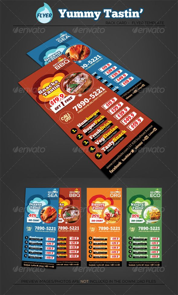 Fast Food - Restaurant Rack Card Flyer File format, Fonts and - bbq flyer