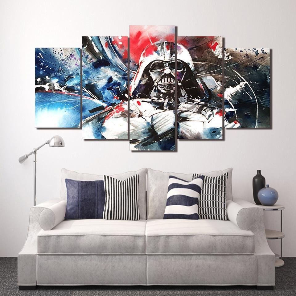 Hd printed darth vader star wars canvas print we have 2 options for this print with framed or no framed please choose one option when you buy