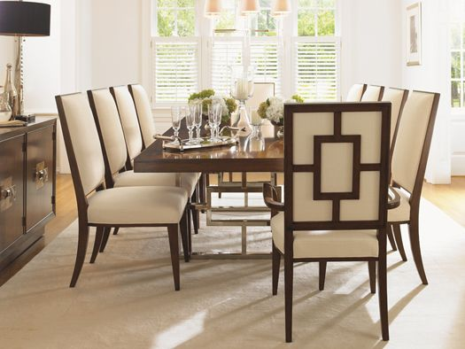 Contemporary Mirage Monroe Dining Table Seats 10 Lexington Home