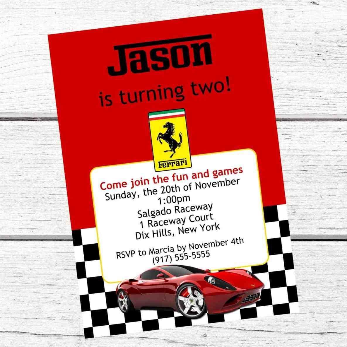 cars invitations free printable