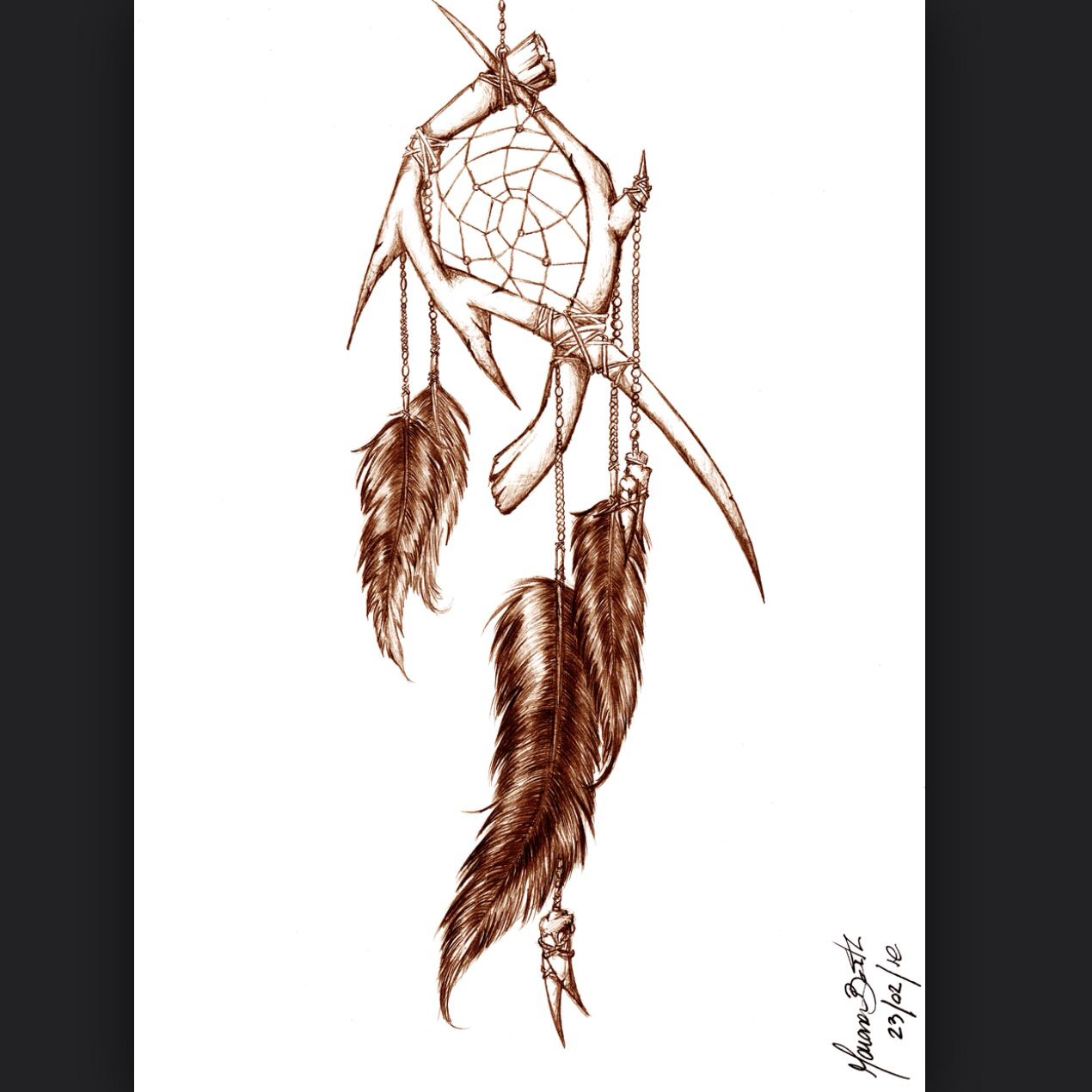 In love :) dream catcher tattoo I think I would put ...