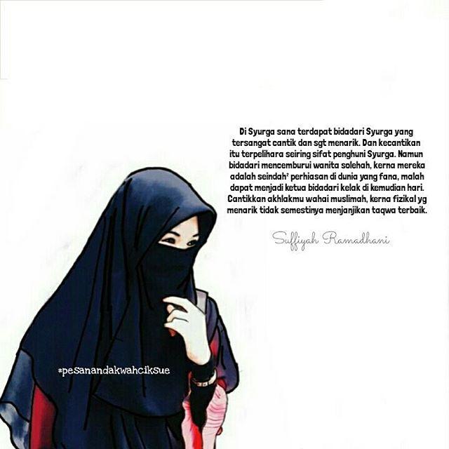 Gambar Wanita Muslimah Bercadar Cantik Dan Anggun (Dengan