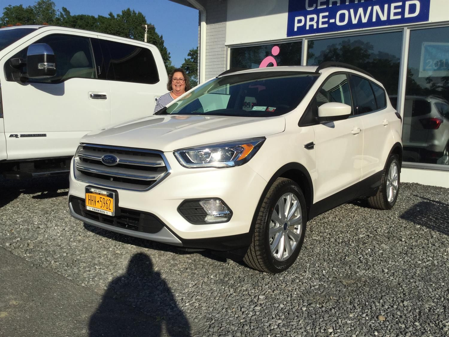 Thank You Jodie For Choosing To Be A Part Of The Rhinebeck Ford Family Enjoy Your New Vehicle Desirae Andrew With Images New Trucks Cars Trucks Vehicles