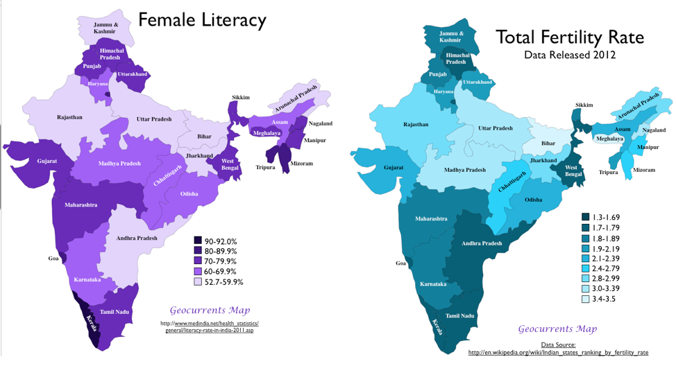 India Female Literacy  Total Fertility Rate  Global Politics-1847