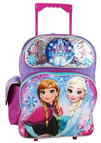 Disney Frozen 16 Large Rolling Backpack Best Value Buy On Amazon Disneyluggages Girls Rolling Backpack Rolling Backpack Backpacks
