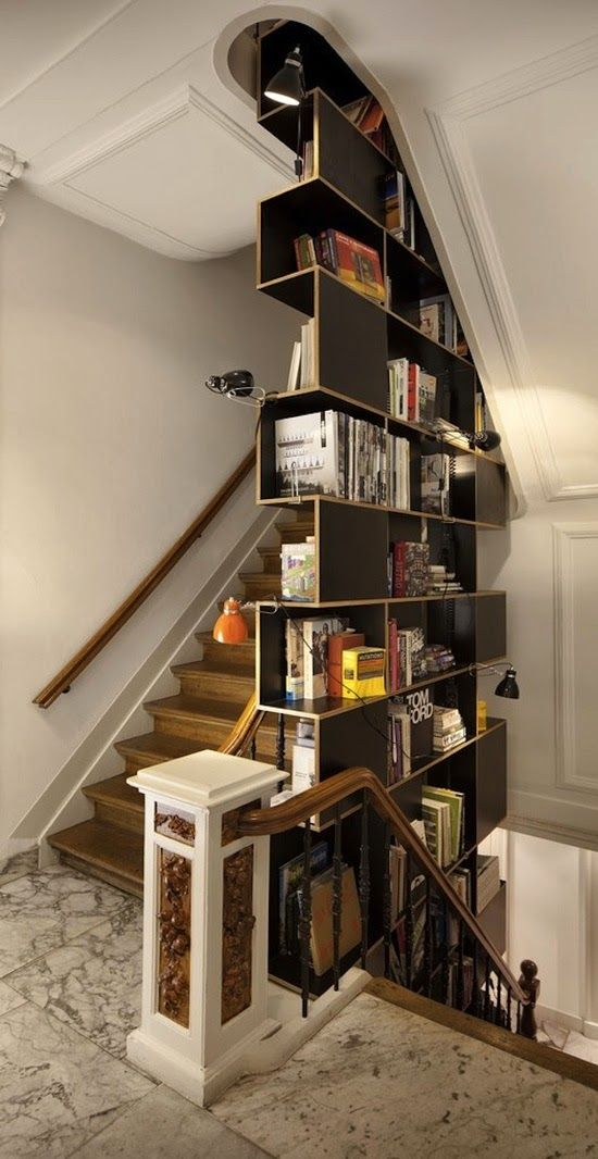 Pinterest.com/fra411 #stairs And Bookshelves