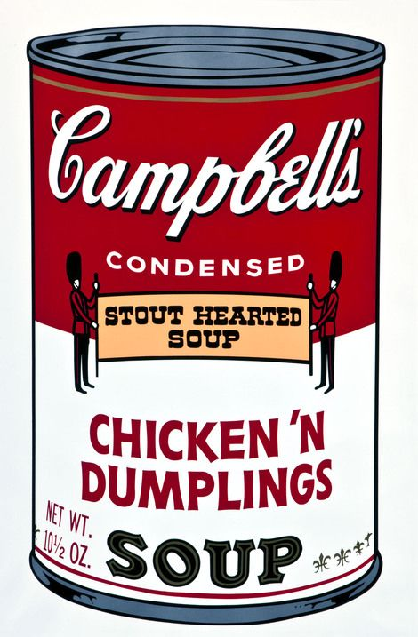 Andy Warhol, Campbell's Soup Can (Chicken dumpling) on ArtStack #andy-warhol #art