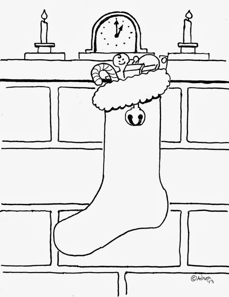 Christmas Stocking Coloring Pages | Holiday Coloring Pages ...
