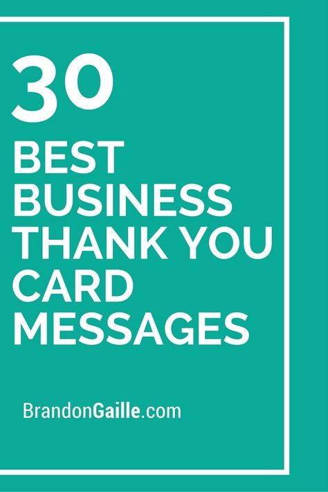 31 Best Business Thank You Card Messages Messages, Business and - business thank you note