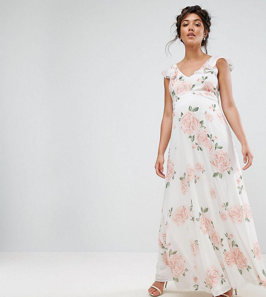 234608c1fae Asos Maternity Long Sleeve Floral Maxi Dress - Gomes Weine AG