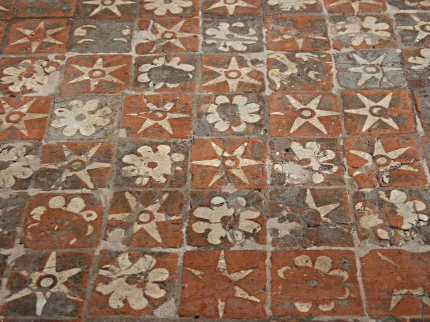 Medieval floor tiles, Winchester Cathedral, Winchester, Hampshire ...