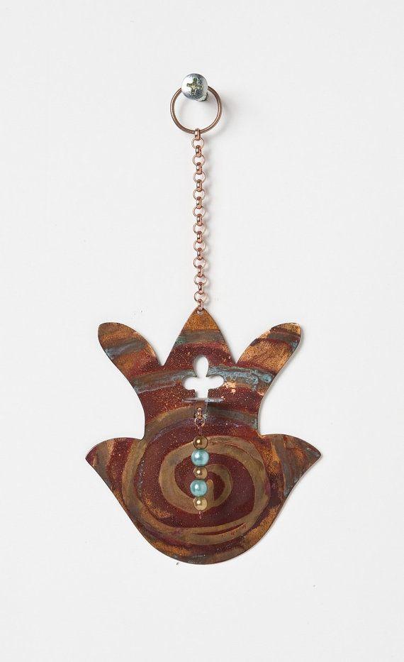 Wall Copper clover Hamsa by AyalaAdlerJudaica on Etsy, $35.00