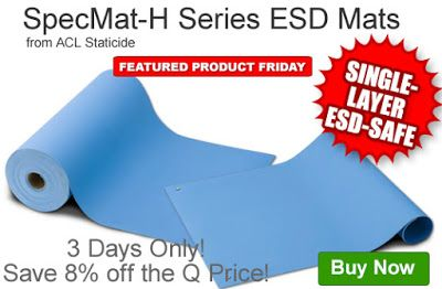 Limited-Time Sale: Extra Savings on ACL's SpecMat-H ESD Mats