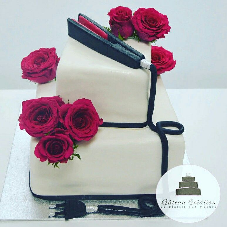 gateau d 39 anniversaire wedding cake sur le th me de la coiffure gateau d 39 anniversaire adulte. Black Bedroom Furniture Sets. Home Design Ideas