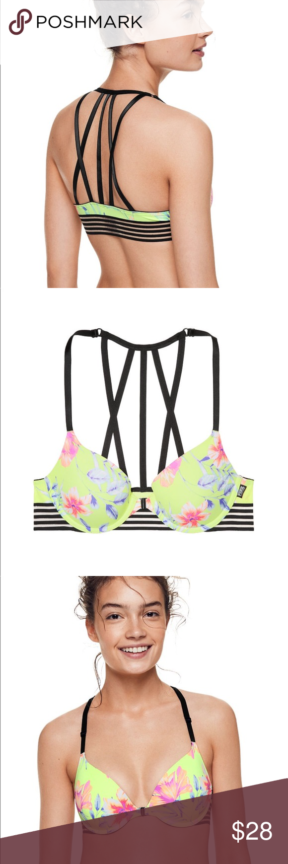 bfcbd4874a2 VS PINK Wear Everywhere Strappy Push-up Bra - 34B New in Victoria s Secret  Online
