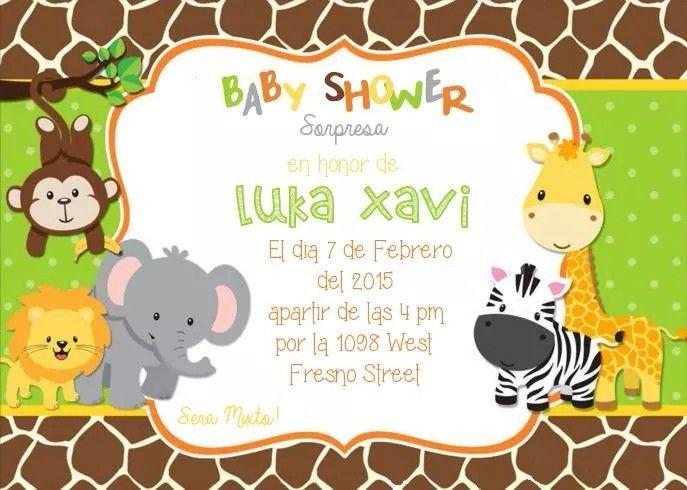 Amazing Incitacion Safari Baby Shower