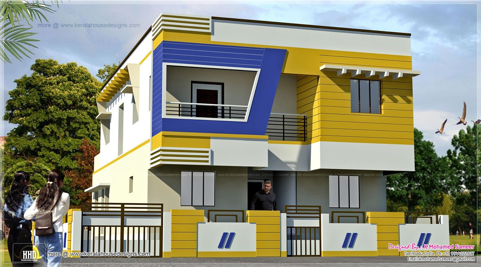 Indian Style House Front Design