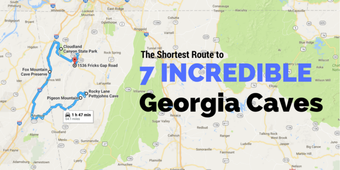 This Map Shows The Shortest Route To 7 Of Georgia's Most
