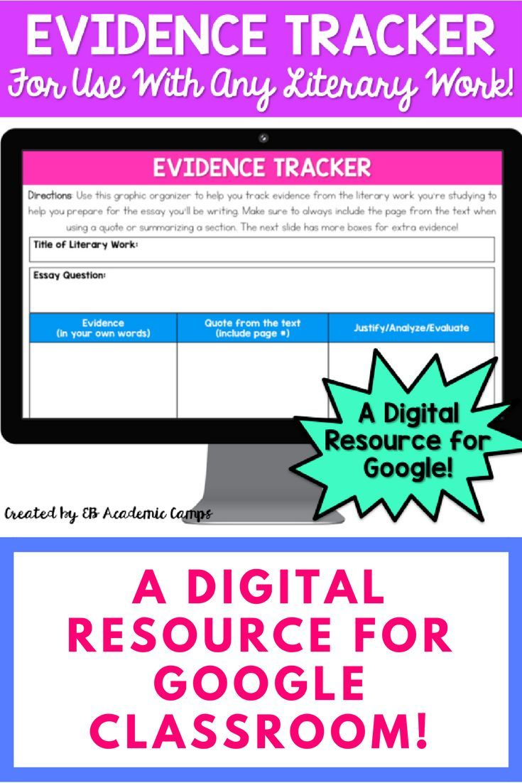 digital evidence tracker graphic organizer google classroom  a great resource for your google classroom this evidence tracker graphic organizer helps your students