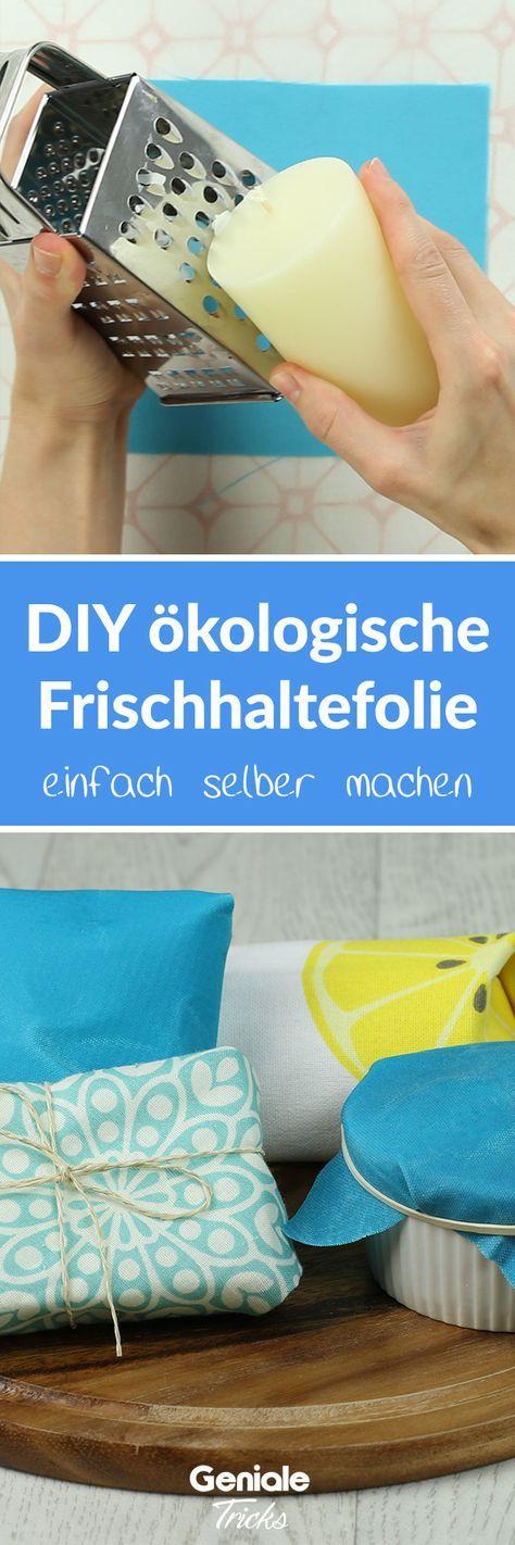 Photo of Wiederverwendbares Wachstuch als plastikfreie Frischhaltefolie – DIY und nachhaltig